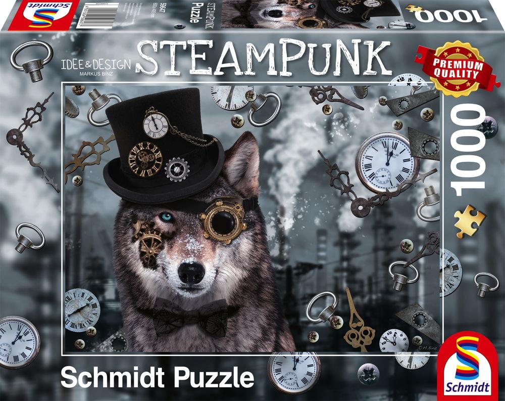 1000 Teile Schmidt Spiele Puzzle Markus Binz Steampunk Wolf 59647