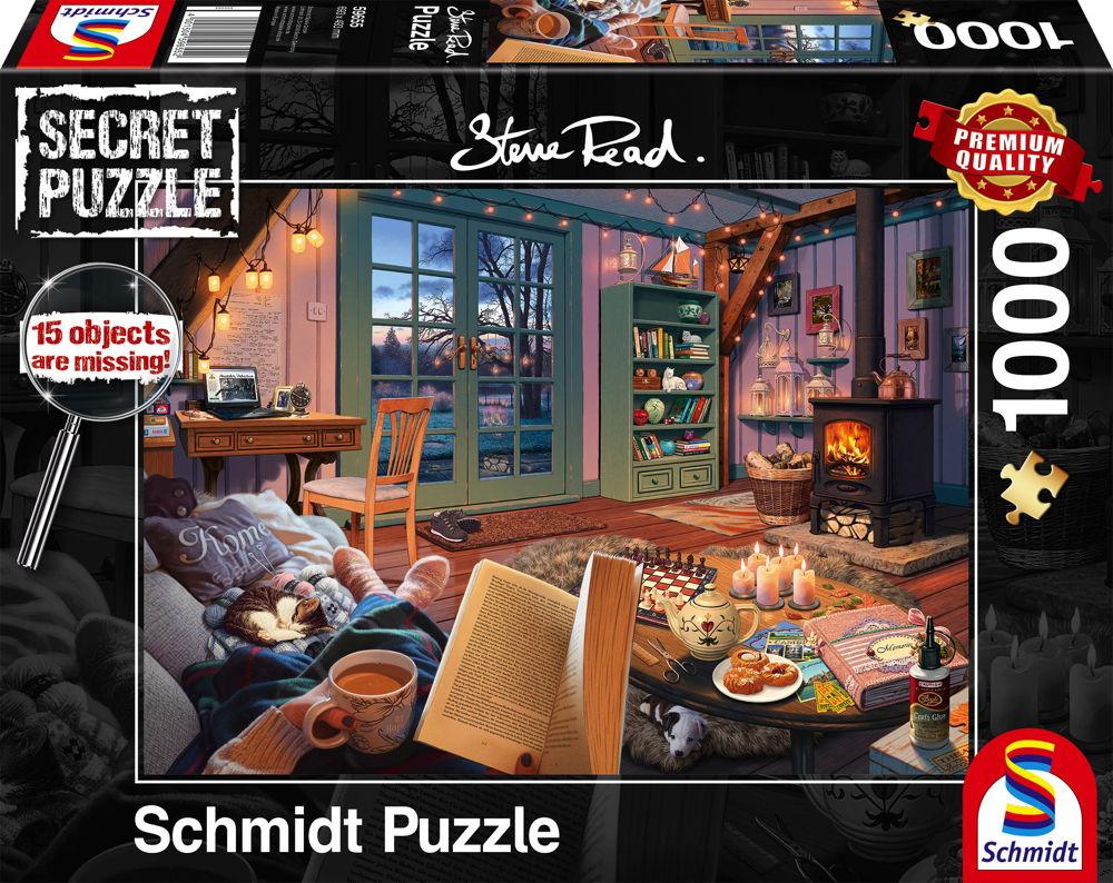 1000 Teile Schmidt Spiele Secret Puzzle Steve Read Im Ferienhaus 59655
