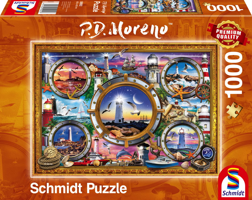 1000 Teile Schmidt Spiele Puzzle P.D. und Moreno Leuchttürme 59902
