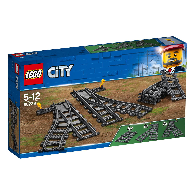 LEGO® City Eisenbahn Weichen 8 Teile 60238