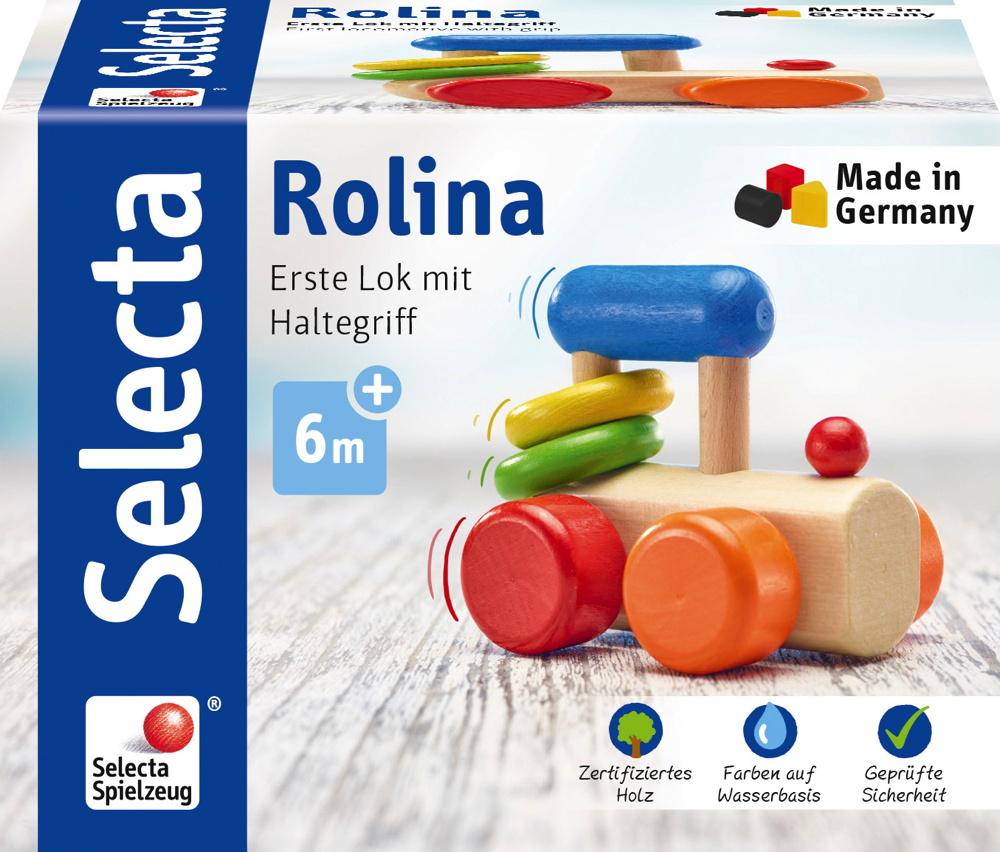 Selecta Babywelt Holz Rollspielzeug Rolina Lok krabbeln 61028