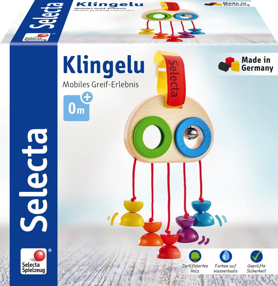 Selecta Babywelt Holz Minitrapez Klingelu Mobiles Greif-Erlebnis 61046