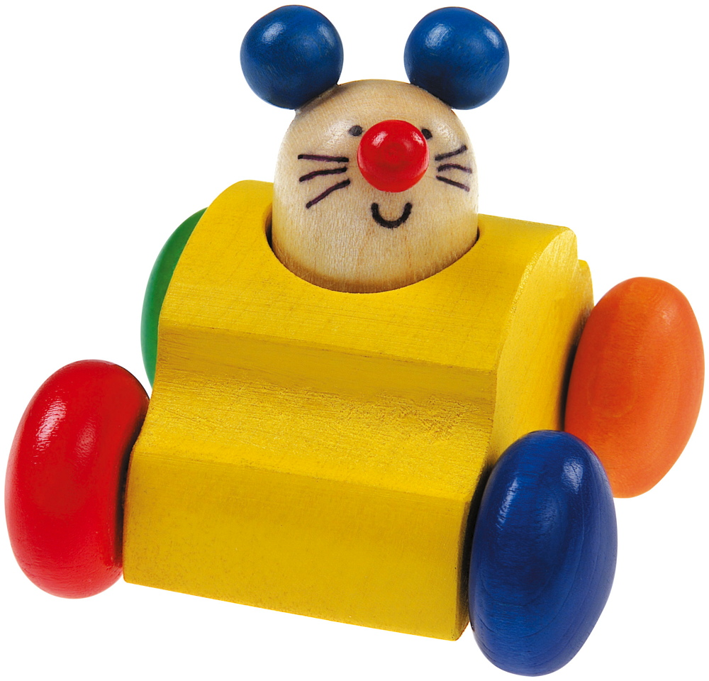 Selecta Babywelt Holz Rollspielzeug Topeto Maus Quietsche krabbeln 61048