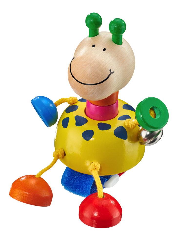 Selecta Babywelt Holz Collini mit Klettverschluss Giraffe Buggyspielzeug 61064