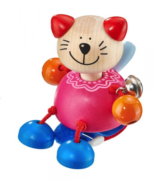 Selecta Babywelt Holz Kitti mit Klettverschluss Katze Buggyspielzeug 61065