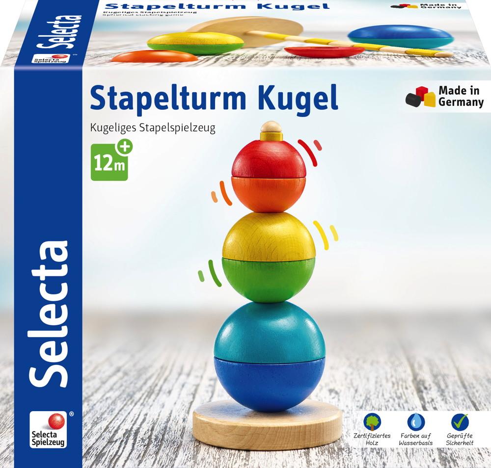 Selecta Kleinkindwelt Holz Stapelturm Kugel Stapel 62002