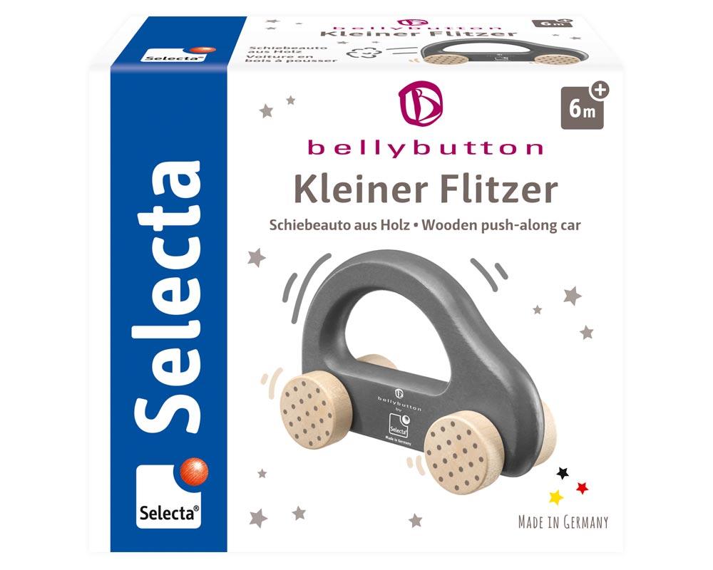 Bellybutton by Selecta Exklusic Holz Rollspielzeug Schiebeauto Kleiner Flitzer grau 64004