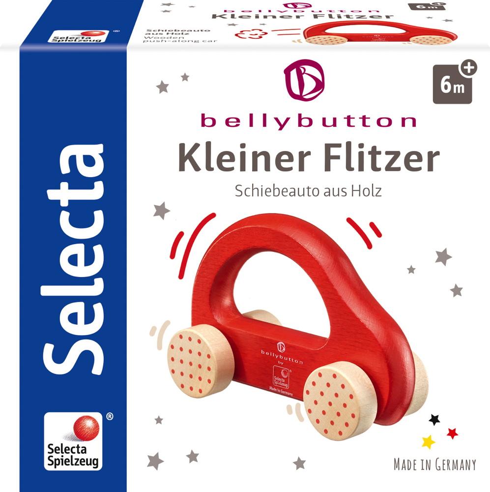 Bellybutton by Selecta Exklusic Holz Rollspielzeug Schiebeauto Kleiner Flitzer rot 64007