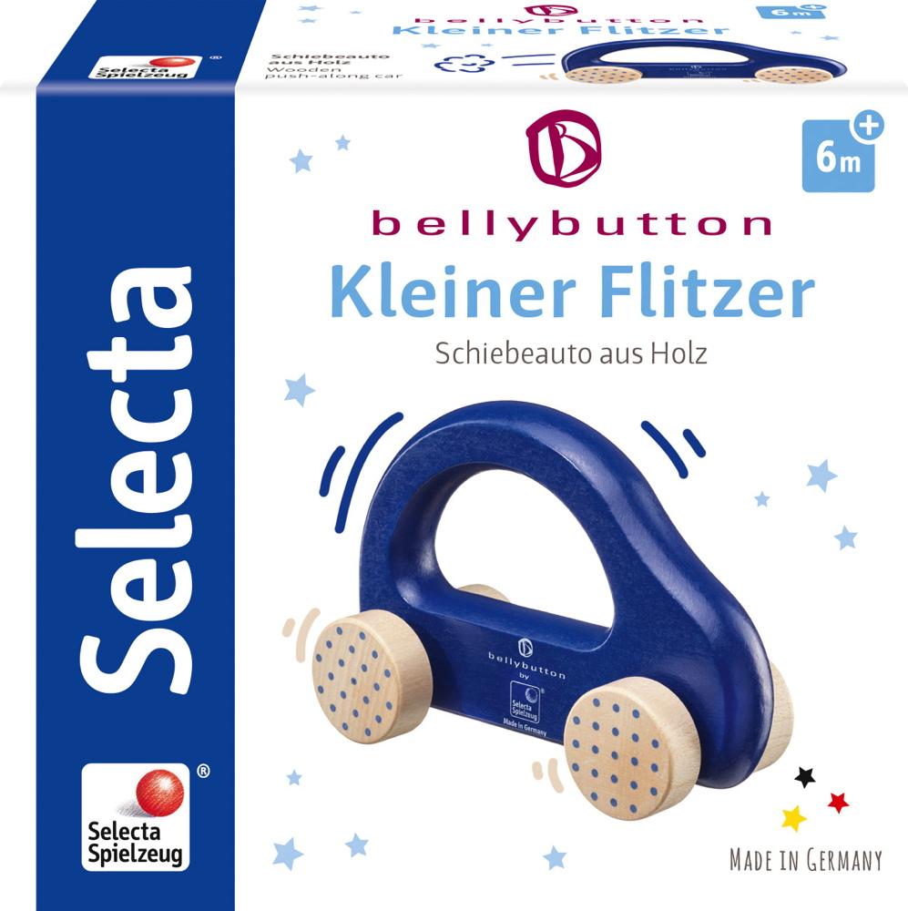 Bellybutton by Selecta Exklusic Holz Rollspielzeug Schiebeauto Kleiner Flitzer blau 64008