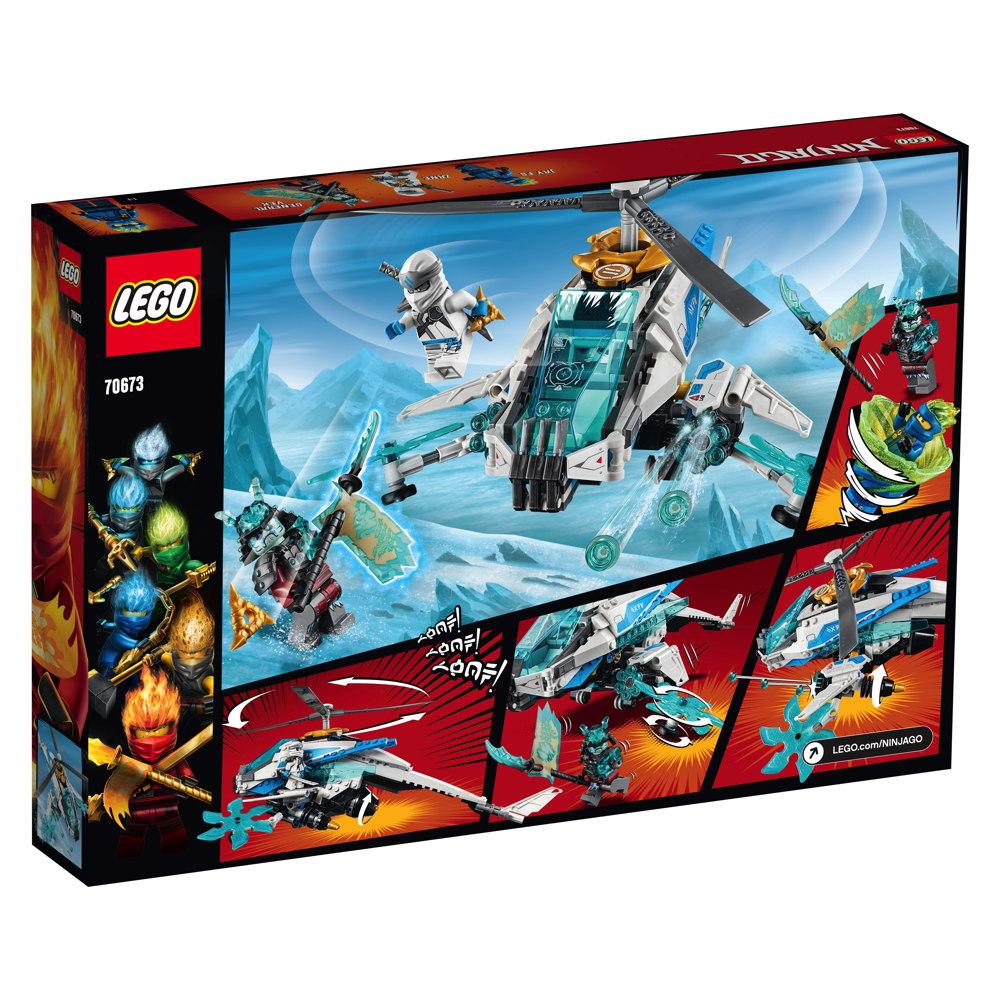 ShuriCopter Hubschrauber 3 Minifiguren Zane 361 Teile LEGO Ninjago 70673