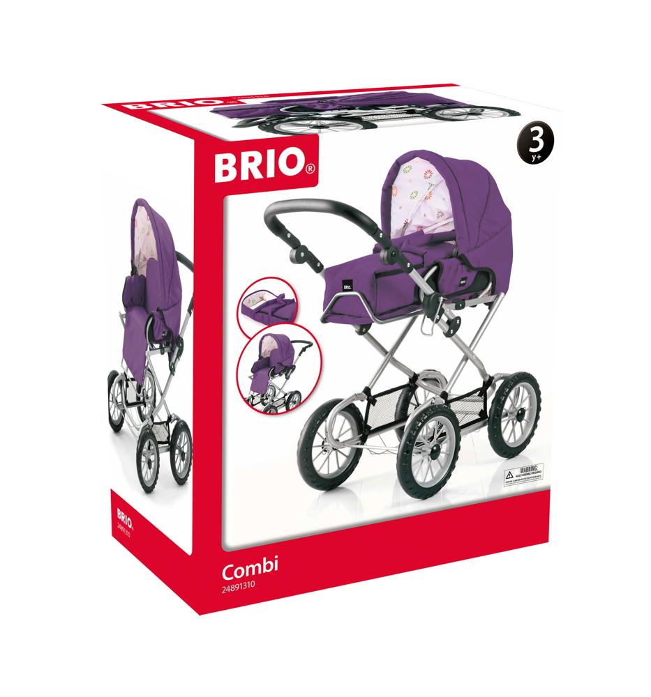 Brio Spielzeug Rollenspiel Puppenwagen Combi violett 63891310