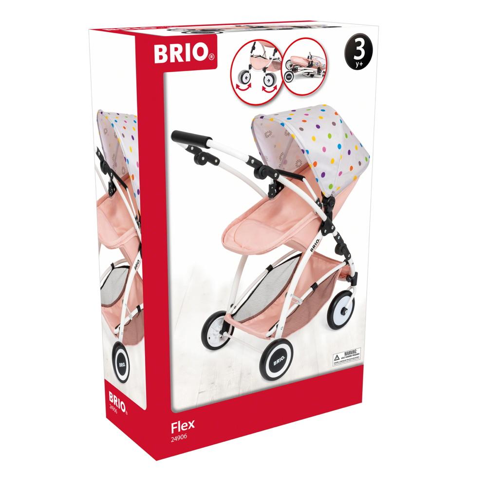 Brio Spielzeug Rollenspiel Puppenwagen Puppenbuggy Flex rosa 63906000