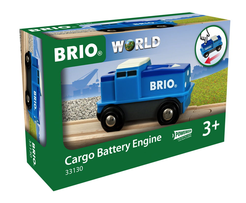 Brio World Eisenbahn Lok Batterie Frachtlok blau 1 Teil 33130