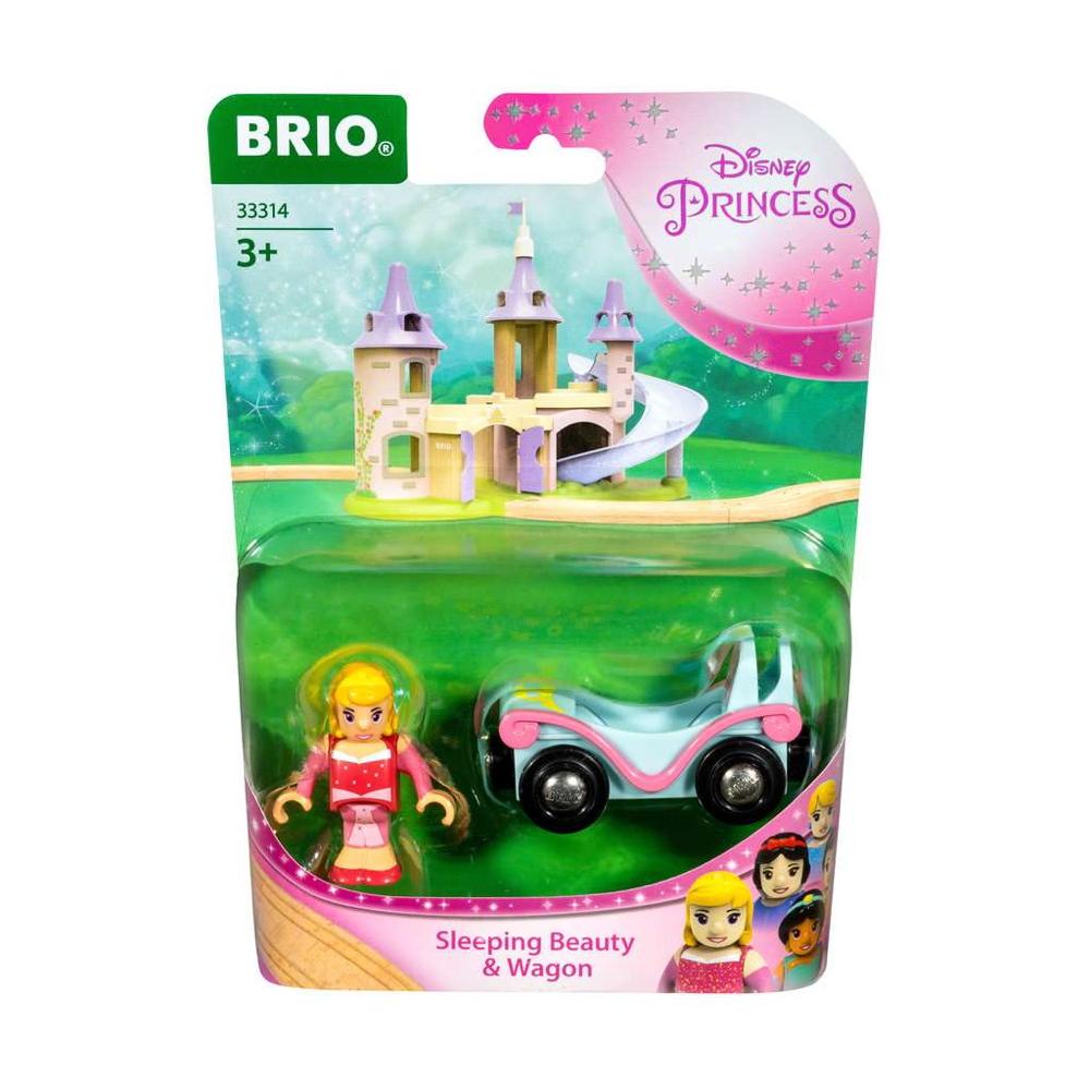 Brio World Eisenbahn Waggon Disney Princess Aurora mit Waggon 2 Teile 33314