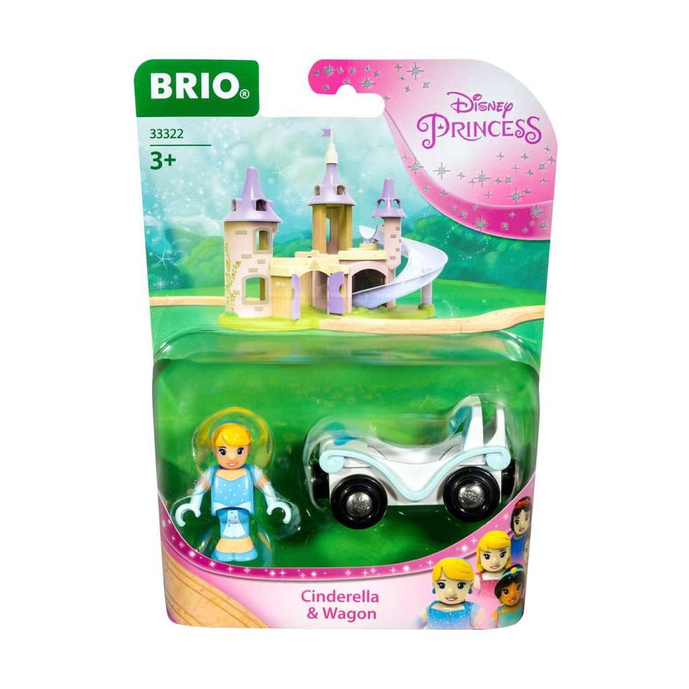 Brio World Eisenbahn Waggon Disney Princess Cinderella mit Waggon 2 Teile 33322