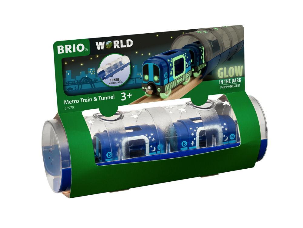 Brio World Eisenbahn Zubehör Tunnel Box U-Bahn Glow in the Dark 3 Teile 33970