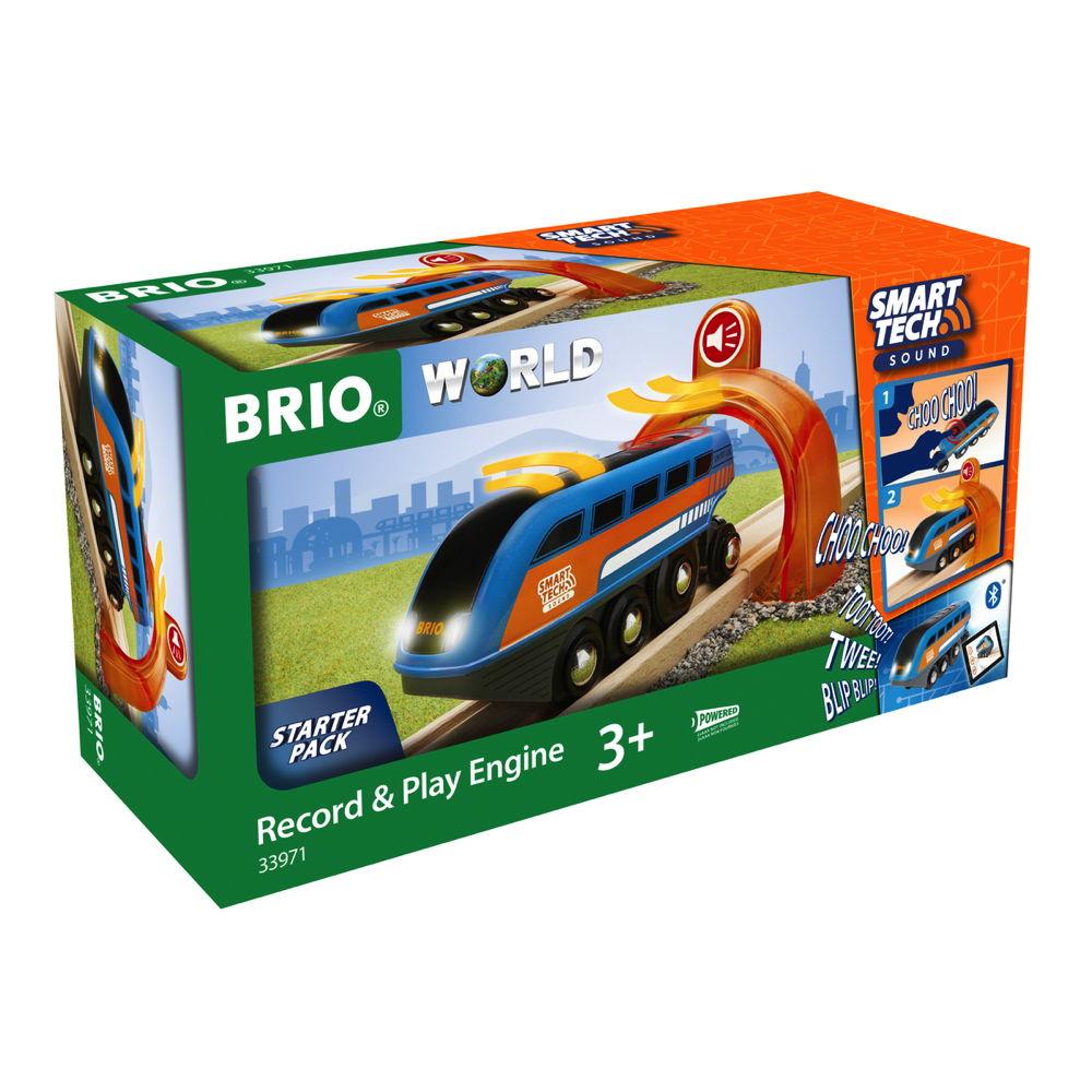 Brio World Eisenbahn Lok Smart Tech Sound Lok mit Aufnahmefunktion 2 Teile 33971