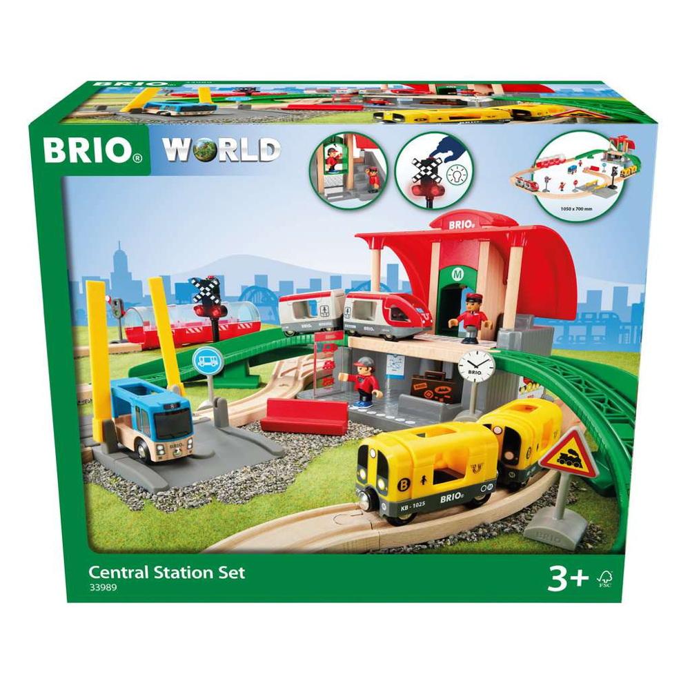 Brio World Eisenbahn Set Großes City Bahnhof Set 37 Teile 33989