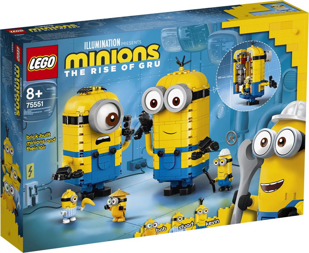 LEGO® Minions Minions-Figuren Bauset mit Versteck 876 Teile 75551