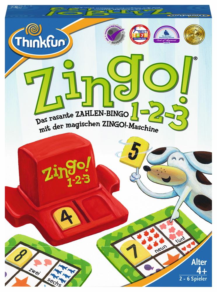 Thinkfun Kinderspiel Logikspiel Zingo! 1-2-3 76352