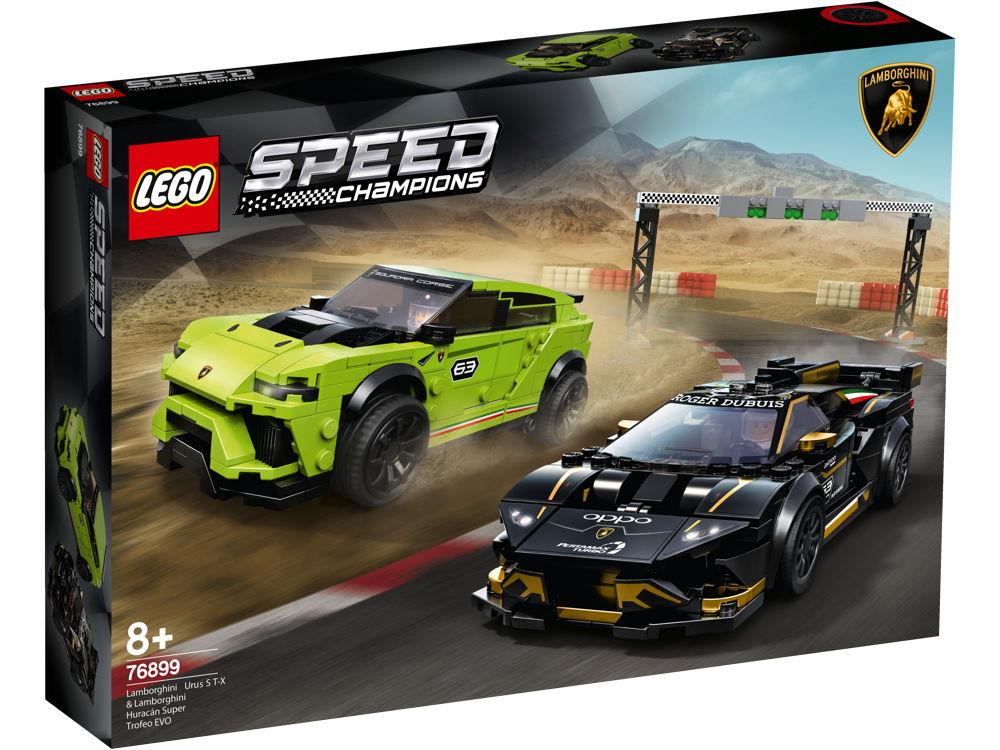 LEGO® Speed Champions Lamborghini Urus ST-X & Lamborghini Huracán Super Trofeo EVO 663 Teile 76899
