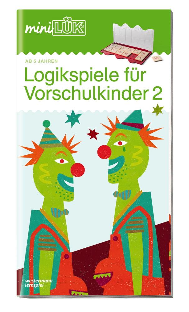 LÜK miniLÜK Buch Logikspiele für Vorschulkinder 2 ab 5 Jahren 0447