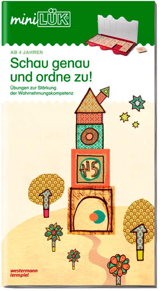 LÜK miniLÜK Buch Wahrnehmungskompetenz anbahnen ab 4 Jahren 4262