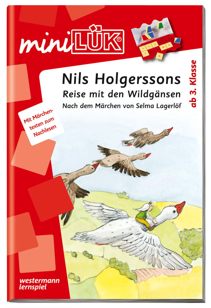 LÜK miniLÜK Buch Nils Holgerssons Reise mit den Wildgänsen ab 8 Jahren 4313