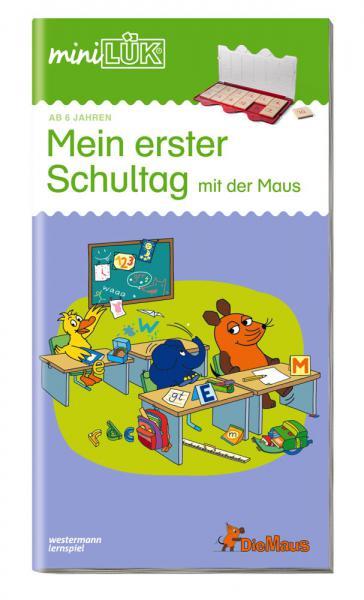 LÜK miniLÜK Buch Mein erster Schultag mit der Maus ab 5 Jahren 4551