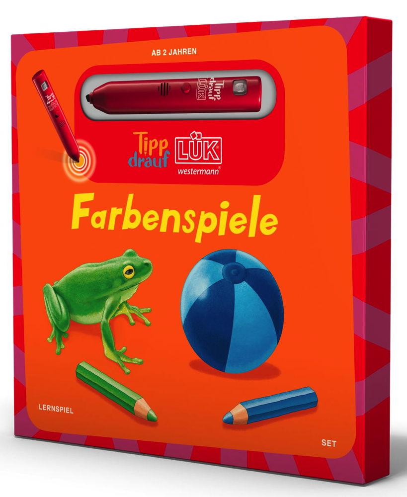 LÜK Tipp drauf! LÜK Set Buch Stift Kuscheltier Farbenspiel ab 2 Jahren 5502