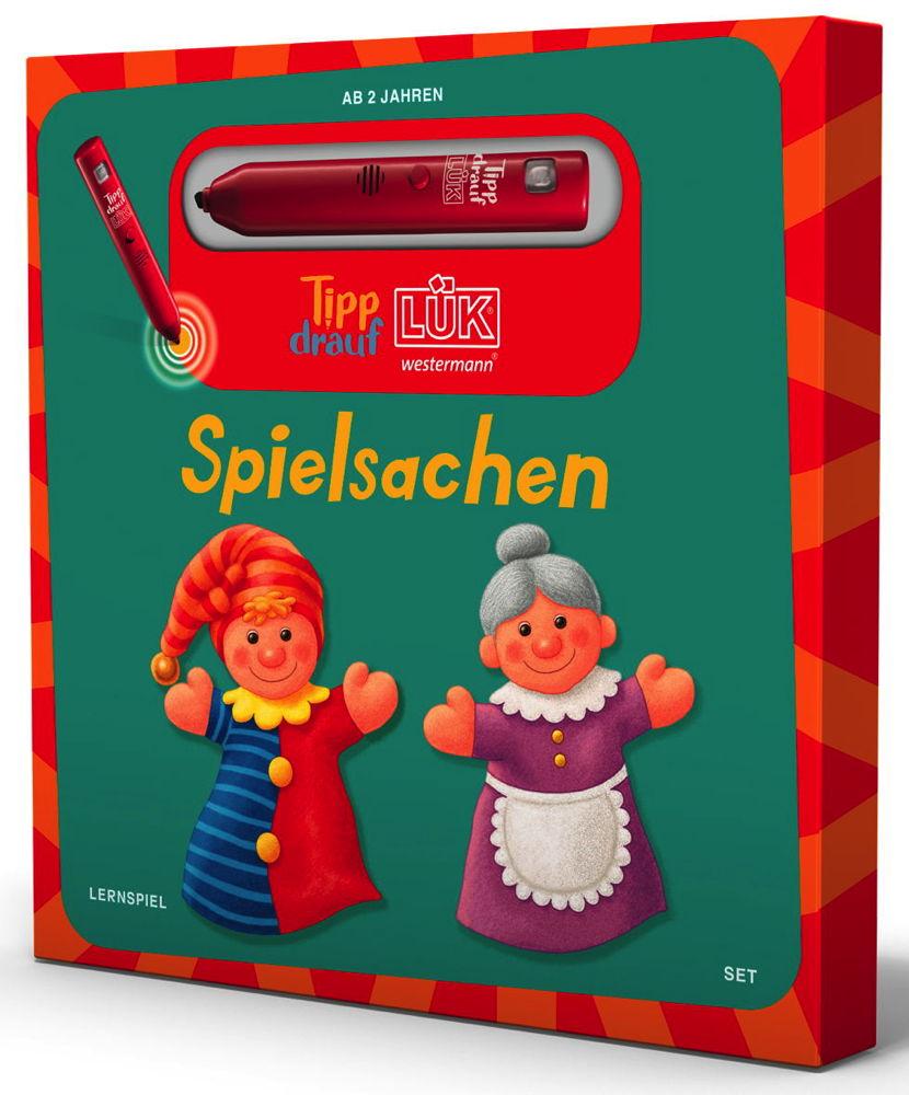 LÜK Tipp drauf! LÜK Set Buch Stift Kuscheltier Spielsachen ab 2 Jahren 5503