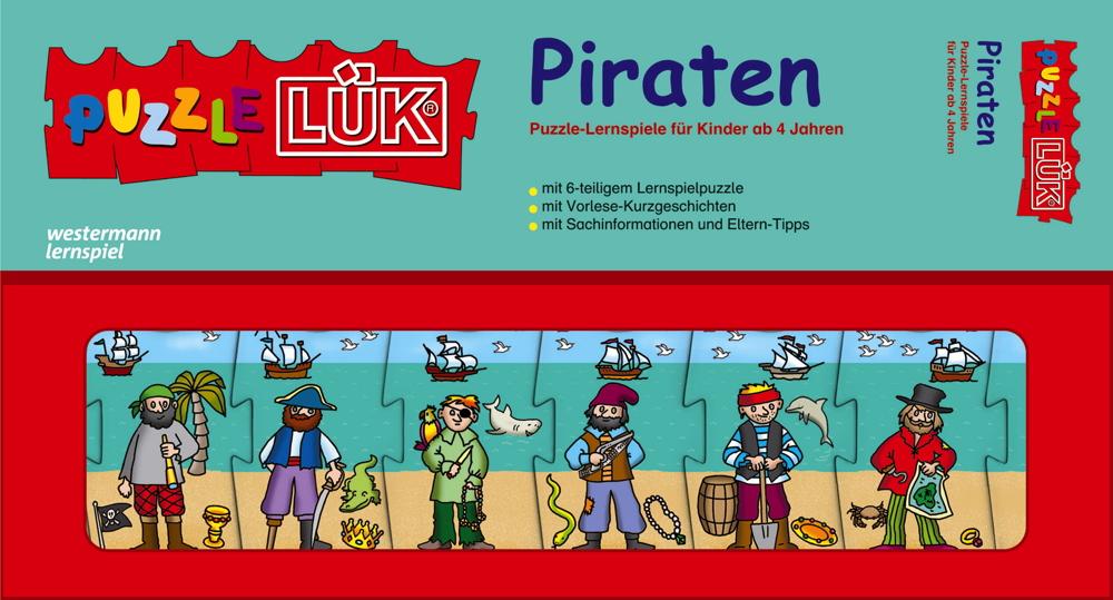 LÜK PuzzleLÜK Piraten Puzzle-Lernspiele ab 4 Jahren 8303