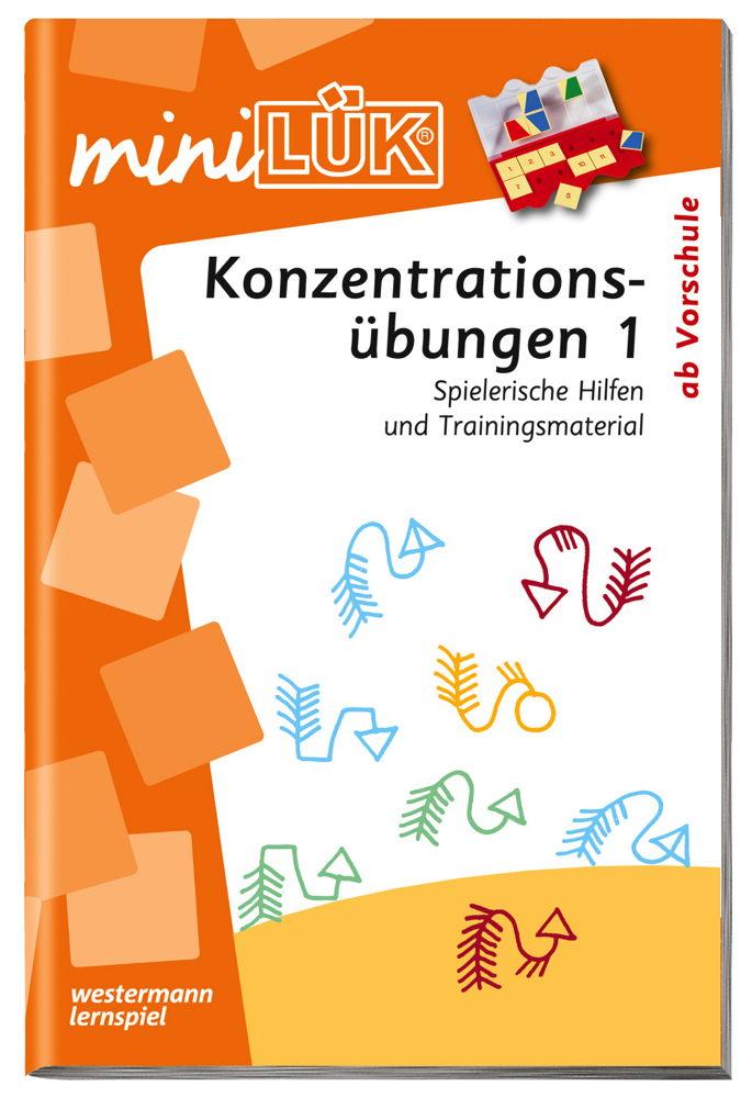 LÜK miniLÜK Buch Konzentrationsübungen 1 ab 5 Jahren 311