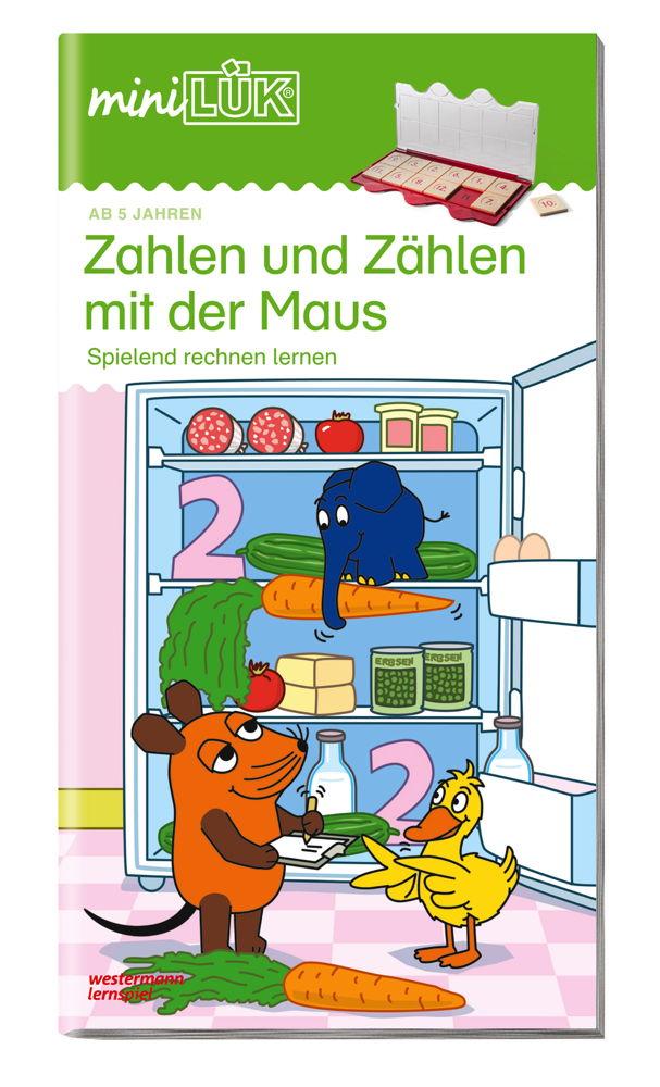 LÜK miniLÜK Buch Zahlen und Zählen mit der Maus ab 5 Jahren 358