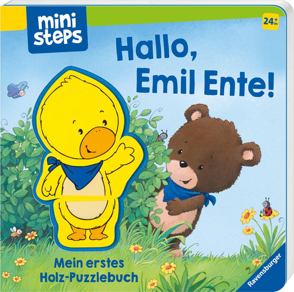 Ravensburger ministeps Buch Hallo, Emil Ente!Mein erstes Holzpuzzle 30060