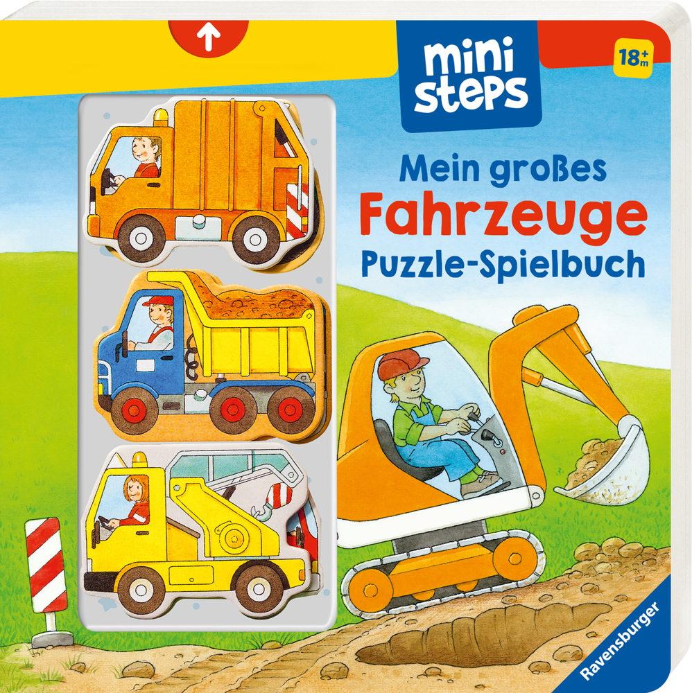 Ravensburger ministeps Buch Mein großes Fahrzeuge Puzzle-Spielbuch 31678