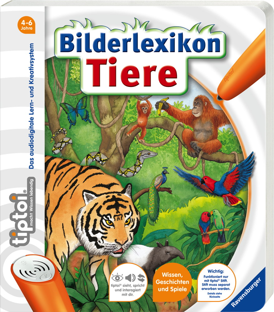 Ravensburger tiptoi Buch Bilderbuch Bilderlexikon Tiere 44568