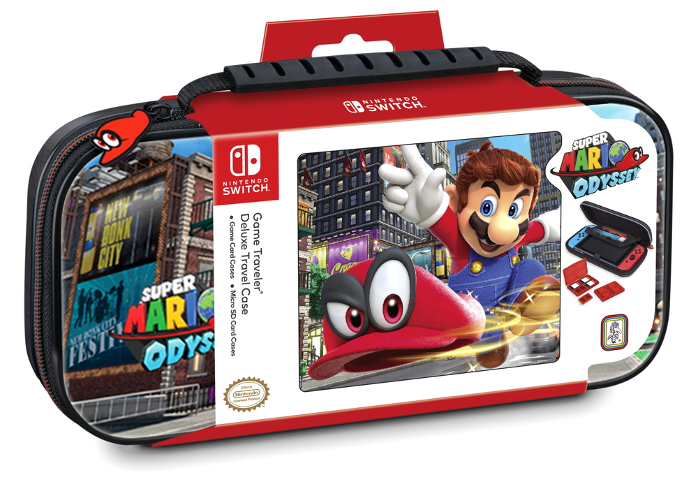 bigben nintendo switch tasche nns58 super mario odyssey. Black Bedroom Furniture Sets. Home Design Ideas