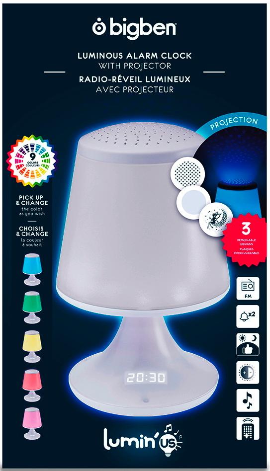 Bigben Radiowecker Lumin´Us Lampenschirm LED Figur Display FM Radio AU357684