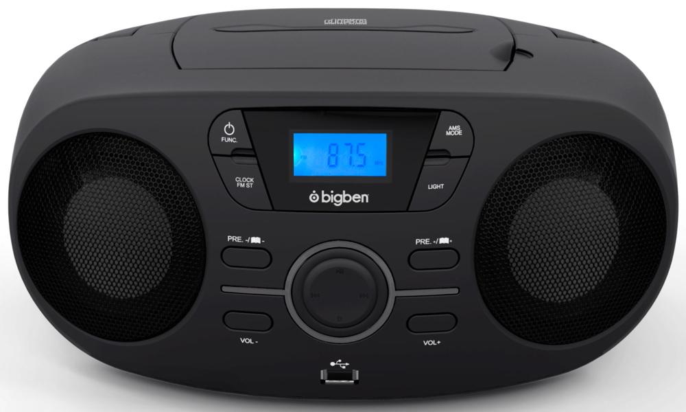 Au363166 Usb Radio Aux Cd Fm Nero Bigben Portable In Player Cd61 Mp3 QdECorexBW