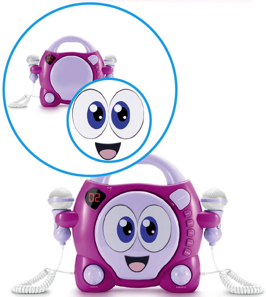 Bigben Tragbarer Cd Player Cd59 Smiley My Bubble Pink Fur Kinder 2