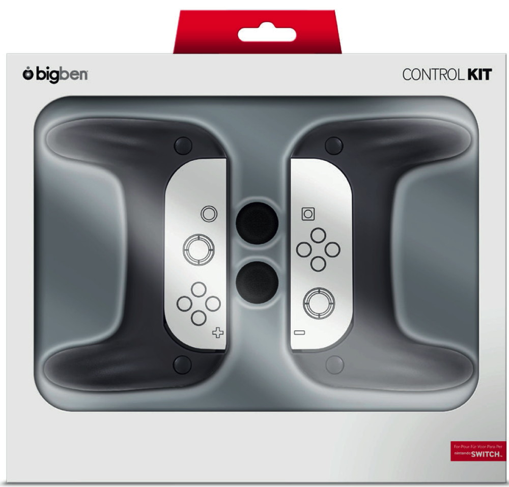 Bigben Nintendo Switch Controller Grip Set schwarz BB354942