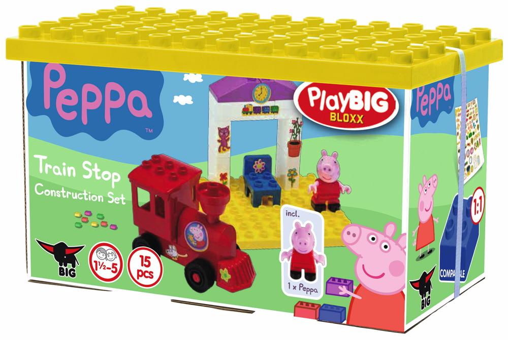 BIG Spielzeug Steckbausteine Bloxx Bahnhof Peppa Pig 15 Teile 800057072