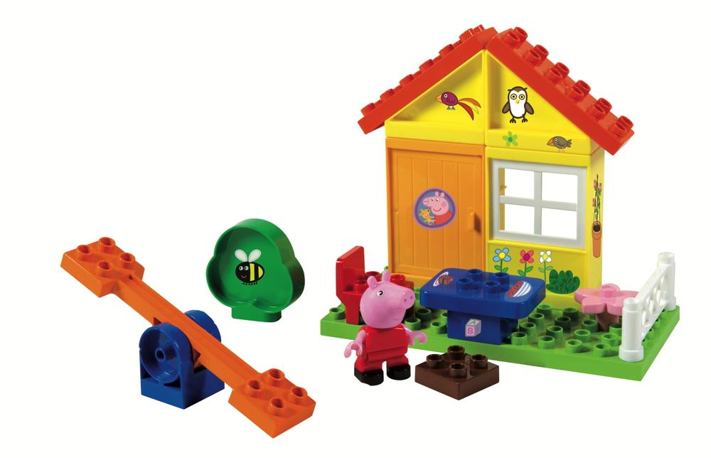 BIG Spielzeug Steckbausteine Bloxx Gartenhaus Peppa Pig 19 Teile 800057073