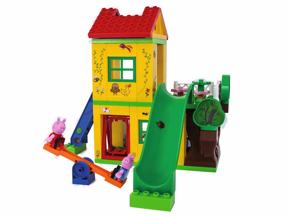 BIG Spielzeug Steckbausteine Bloxx Spielhaus Peppa Pig 75 Teile 800057076