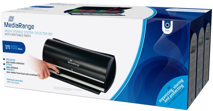 Mediarange Archivierungssystem Selector für 100 BD / CD / DVD