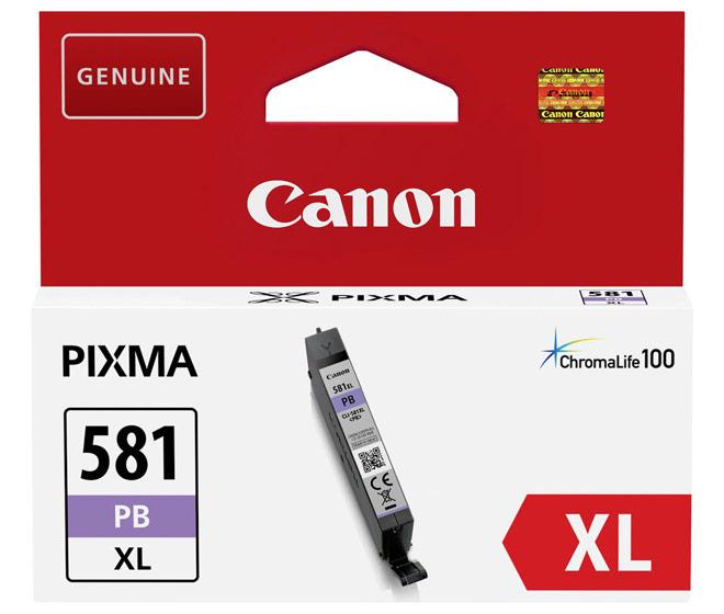 Canon Druckerpatrone Tinte CLI-581 XL PB photo cyan, photo blau