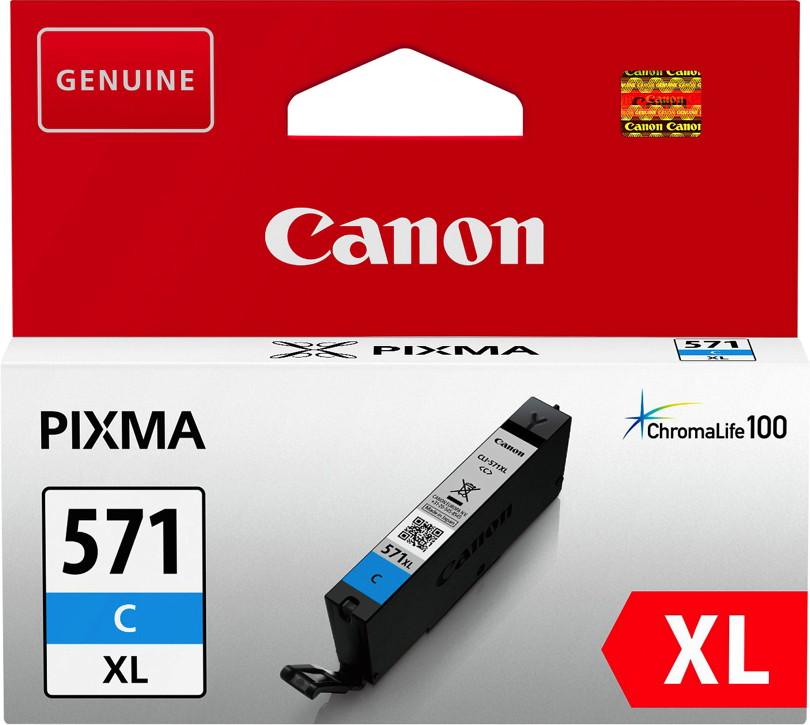 Canon Druckerpatrone Tinte CLI-571 XL C cyan, blau