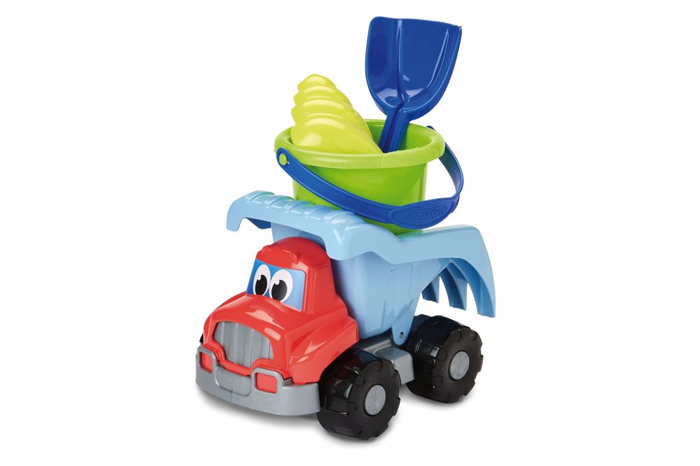 Ecoiffier Indoor / Outdoor Spielzeug Baustellenfahrzeug Kipplaster mit Zubehör 7600000502