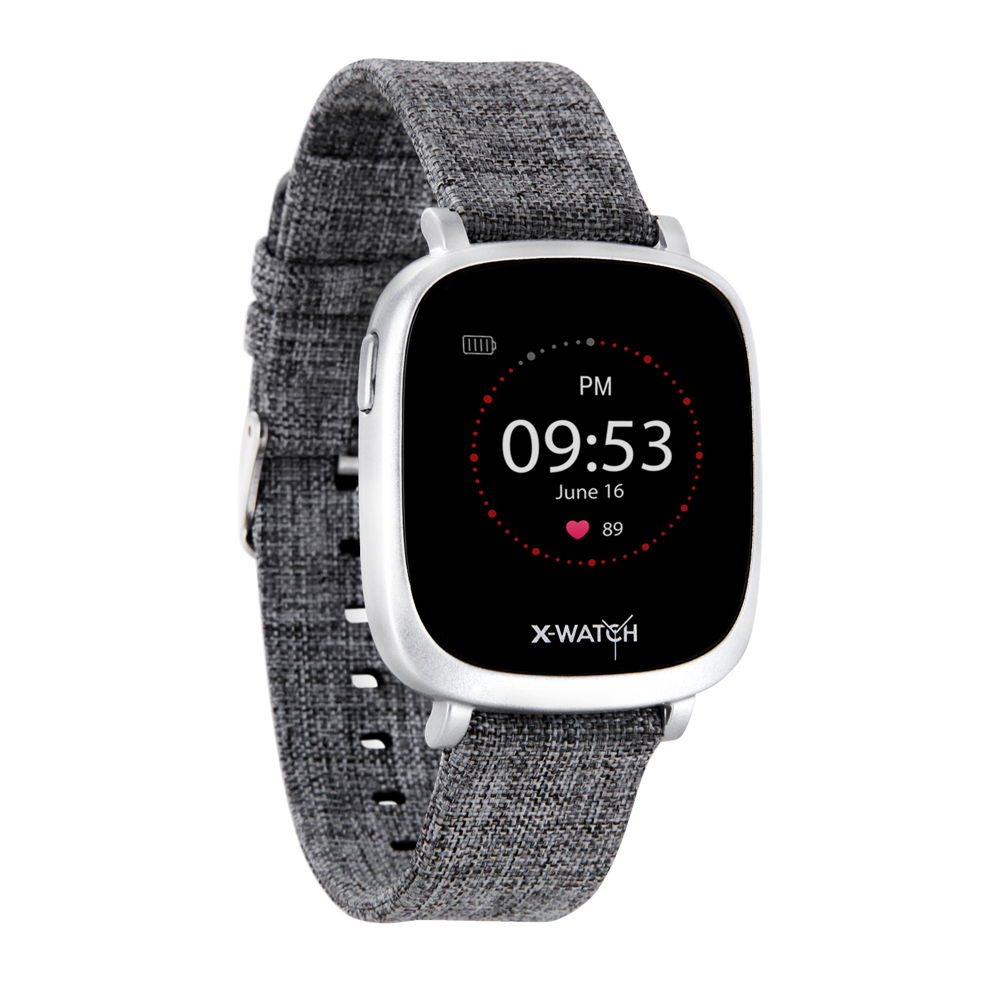 Xlyne Pro Smartwatch X-Watch Ive XW Fit Urban grey Android IOS grau